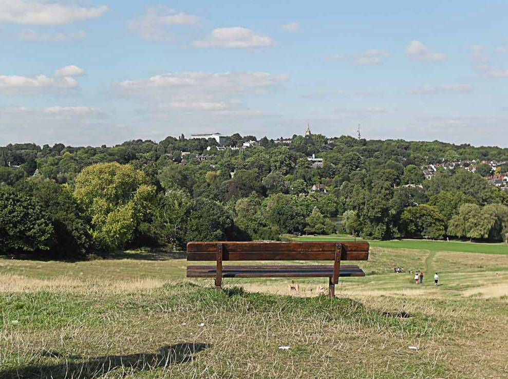 парк Hampstead Heath Хэмпстед Хит в Лондоне фото